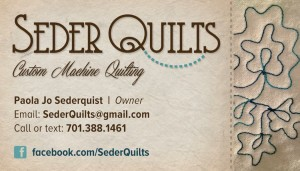 Seder Quilts business card